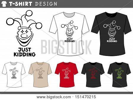 T Shirt Design With Clown