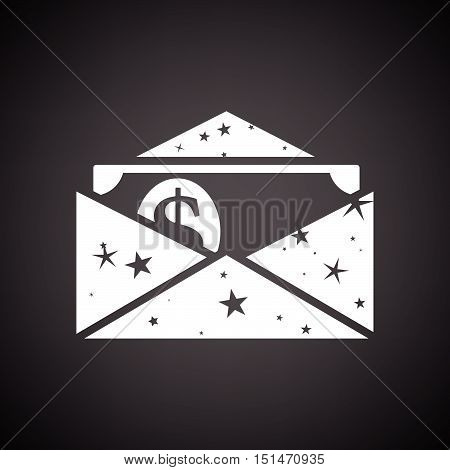 Birthday Gift Envelop Icon With Money