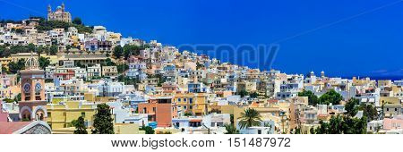 Colors of Greece series - Syros island, vie of Ano Syros village