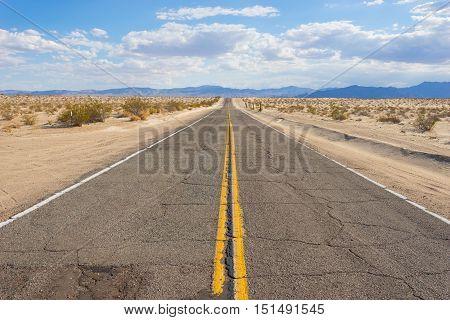 Rugged Asphalt Desert Road