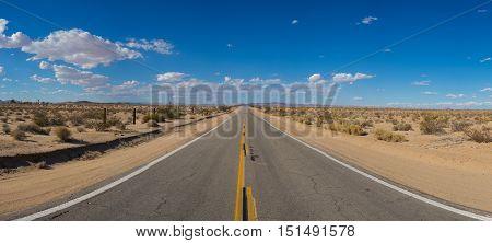Wide View Desert Road