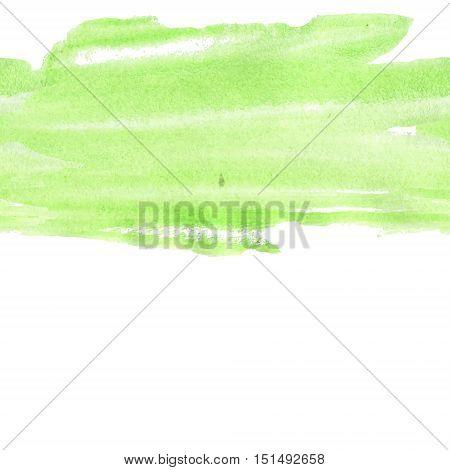 Seamless green watercolour banner backdrop design in vector