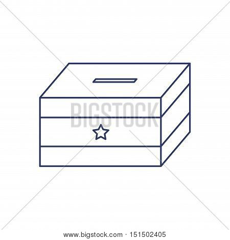 silhouette with urn for voting vector ilustration