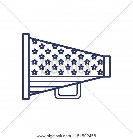 silhouette megaphone united states flag vector illustration