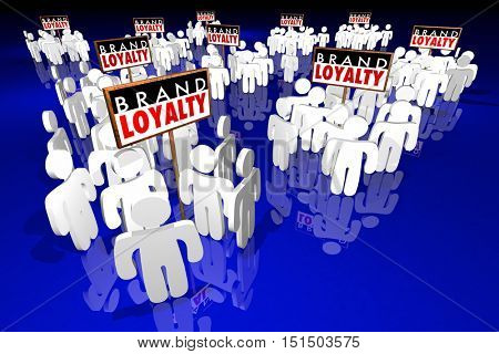 Brand Loyalty Customers Preference Buying Products 3d Illustration