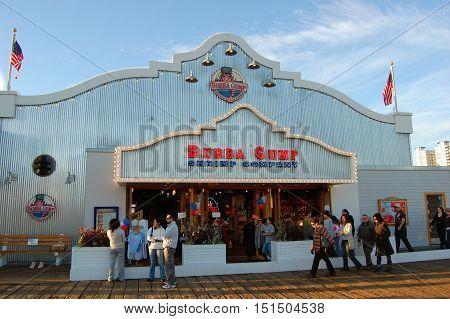 LOS ANGELES - DEC 21, 2008: Bubba Gump Shrimp at Santa Monica Pier, Santa Monica, California, USA.
