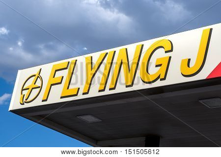 Flying J Truck Stop Exterior And Logo