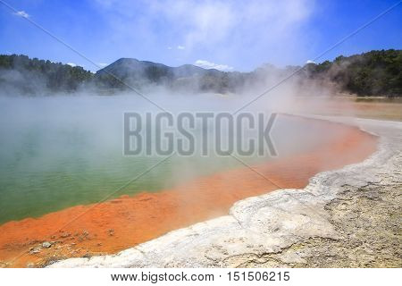 Wai-o-tapu Thermal Wonderland Innew Zealand.
