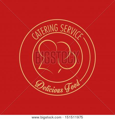 catering service emblem image vector illustration design