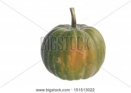 Green Pumpkin Isolated