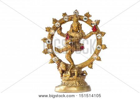 Shiva Nataraja statue on white background. India/Hindu god.