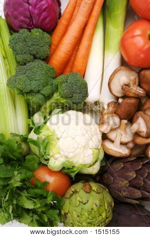 Organic Raw Vegetables