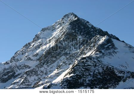 Single Snowy Peak