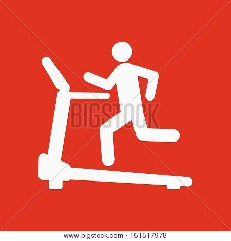 Cross trainer machine icon. Running symbol. Flat Vector illustration