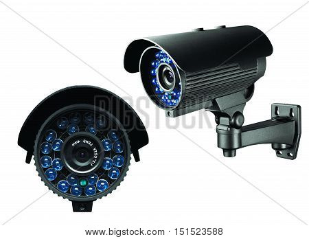 Cctv Camera Of Surveillance Isolate On White Background