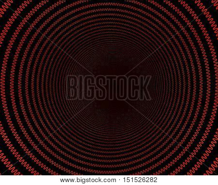 Electric spiral heated to a red. Heating coil element. 3D illustration