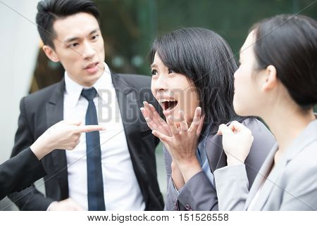 business people bullying and argue in office,asian