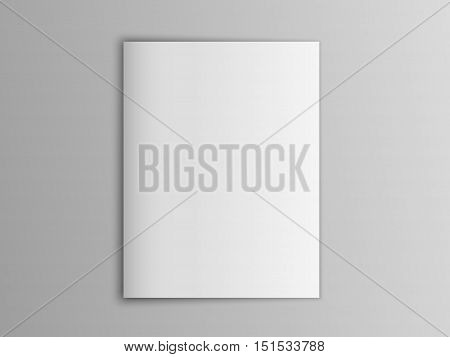 Blank mock up portrait US-Letter, brochure or magazine isolated on gray showing cover. Editable vector illustration.