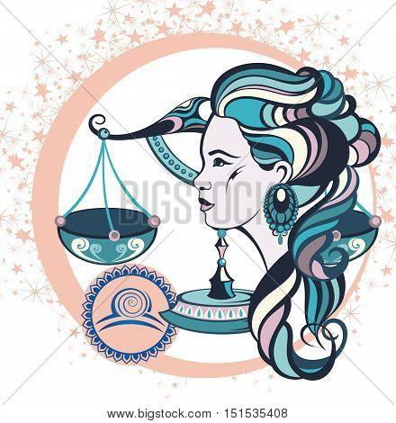 Decorative Zodiac sign Libra for your design