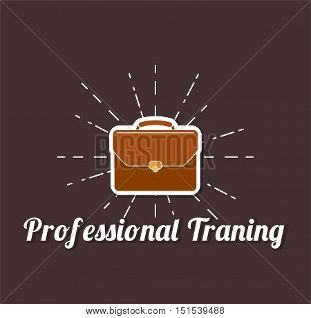 Briefcase vector illustration. Briefcase business. Professional Traning