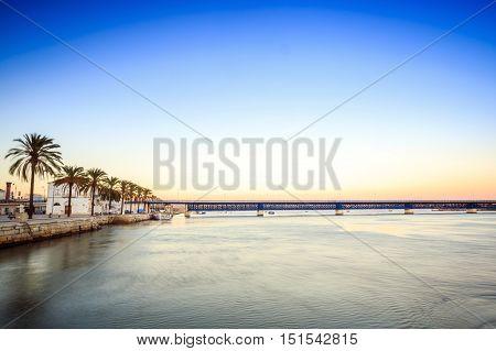 Arade River Coastline In Portimao, Algarve, Portugal