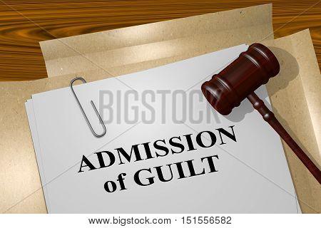Admission Of Guilt - Legal Concept