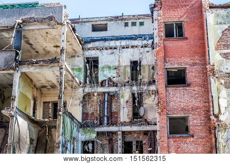 Demolished Ruins old Old Building.