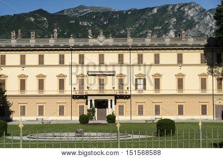 BELLAGIO, ITALY - JUNE 27, 2016: Villa Giulia historic building near Bellagio (Como Lombardy Italy) along the lake of Como (Lario)