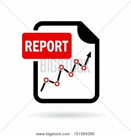 Report file vector icon illustration isolated on white background