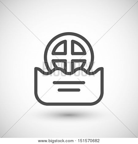 Water drain line icon isolated on grey. Vector illustration