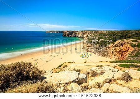 Beliche Beach Next To Sagres, Saint Vincent Cape, Portugal