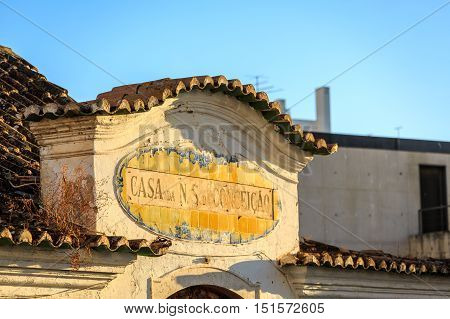 Old Building Next To Church Of Our Lady Of Conception, Portimao, Portugal