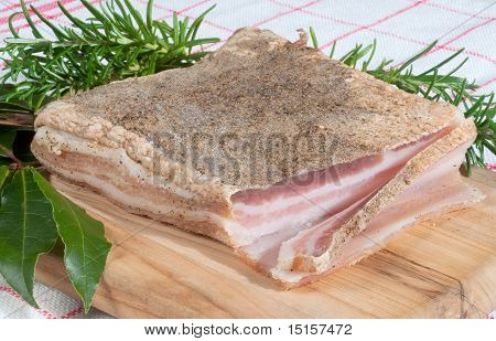 Pancetta With Two Bay Leaves