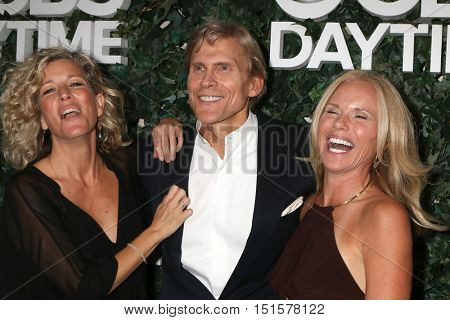 LOS ANGELES - OCT 10:  Laura Wright, Grant Aleksander, Beth Chamberlin at the CBS Daytime #1 for 30 Years Exhibit Reception at the Paley Center For Media on October 10, 2016 in Beverly Hills, CA