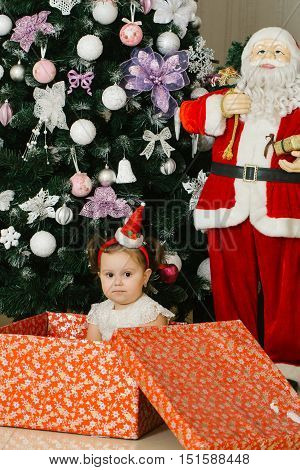 Cute Child With Presents