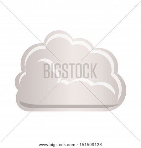 cloud tridimensional in cumulus shape vector illustration
