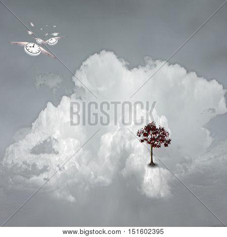Dream Scene on Cloud 3D Render
