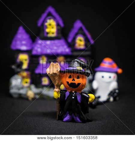 Halloween Ghost party count down alarm clock midnight