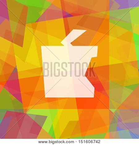 Apple. Abstract bright colorful illustration in cubism