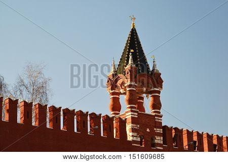 The Tsar Tower of the Moscow Kremlin, Russia
