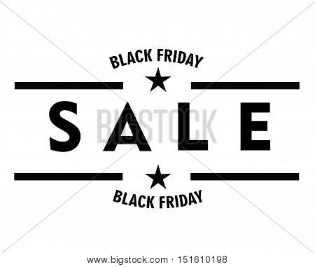 Sale Black Friday Badge - Big Sale Sticker Stock Vector Flat Vintage Retro -