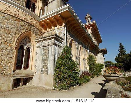 SINTRA, PORTUGAL - Park and palace of Monserrate, unique representatives of 19th century eclecticism. September 29, 2016