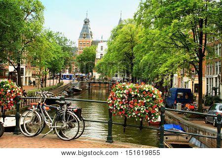 AMSTERDAMTHE NETHERLANDS-DECEMBER 26: Festival of Light december 26 2015 in Amsterdam the Netherlands