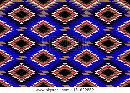Traditional Rustic Rug Motif Pattern Fabric Design