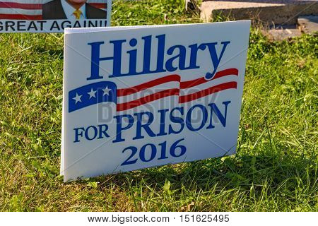 Hillary For Prison Campaign Sign.