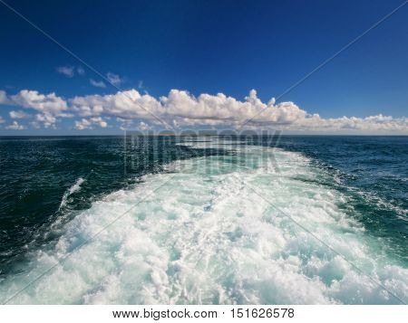 Ocean Churning Off the Bow of a Ferry Boat