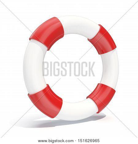 3d illustration icon lifebuoy isolated on white background