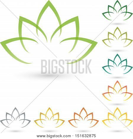 Leaves, flower, colored, naturopath and nature logo