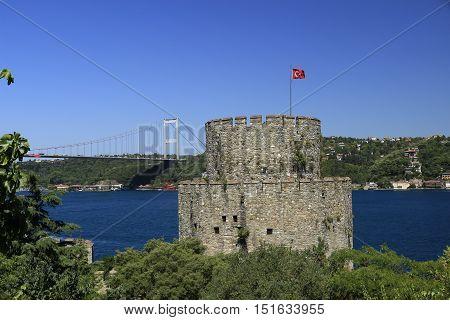 Rumeli Castle in İstanbul City 2016 Bosphorus