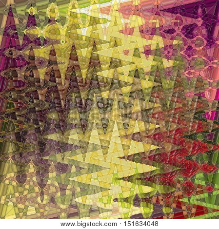 Abstract coloring background of the horizon gradient with visual mosaic, cubism, spherize,wave and plastic wrap effects